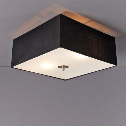 Plafonniere Drum 35 vierkant zwart - Lampenlicht.be