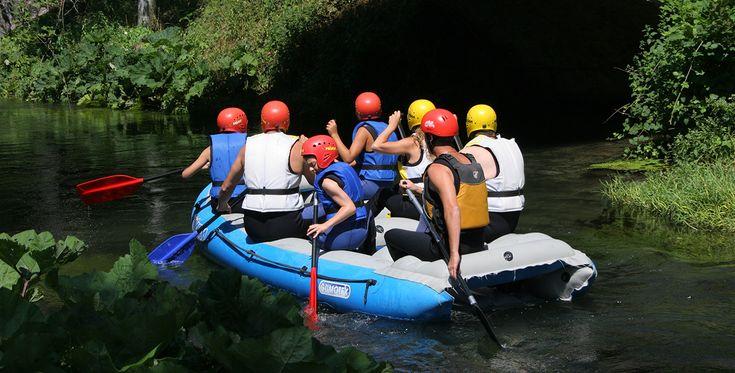 Rafting auf der Salzach in Abtenau Österreich #Abenteuer #Boote #Bootsfahrt