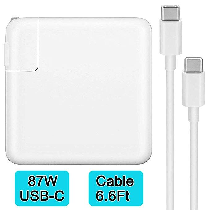 87w Usb C Power Adapter Charger Compatible With Macbook Pro Air 15 Inch 13 Inch With Usb C To Usb C Cable Replacement Usb Laptop Charger Latest Macbook Pro Usb