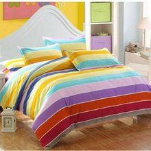 100% хлопок постельного белья 3 / 4 шт. для король королева полный размер цвета радуги пуховое одеяло одеяло постельное белье постельное белье BS22-4(China (Mainland))