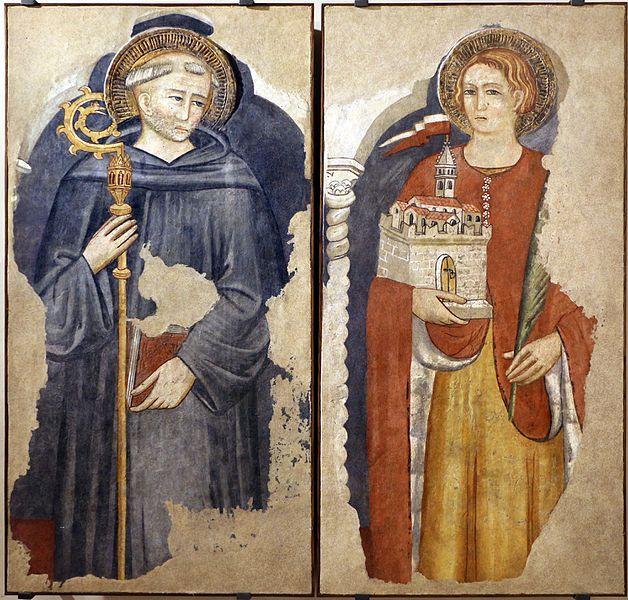 Pittore umbro - SS. Ludovico da Tolosa e Venanzio da Camerino - 1410 ca. - Museo Civico di Gualdo Tadino