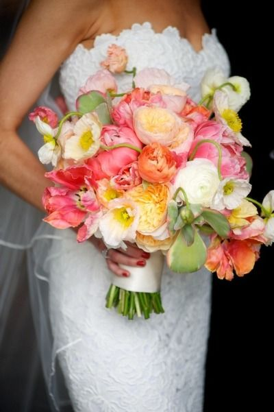 Wedding Flowers Red And Yellow : Ideas about summer wedding bouquets on