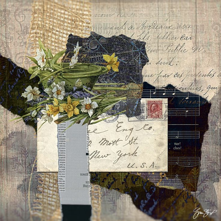 Collage art by Gina Startup