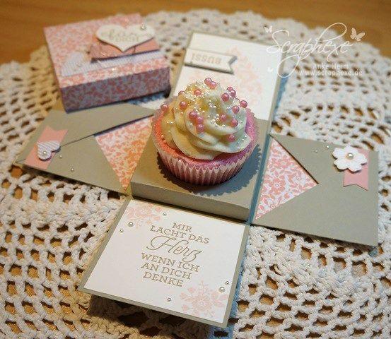 Explosionbox Cupcake, Anleitung, scraphexe.de