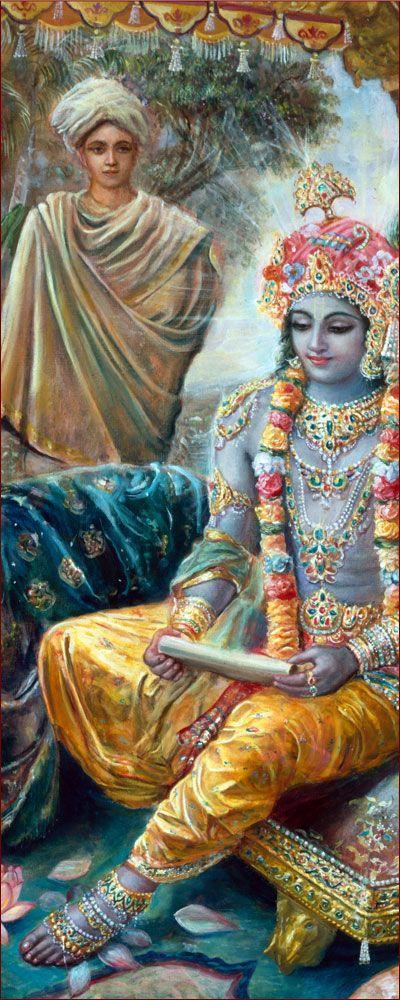 Lord Krishna & The Brahmana Messenger-http://www.krishnalilas.com/51-krishna-the-ranchor.htm