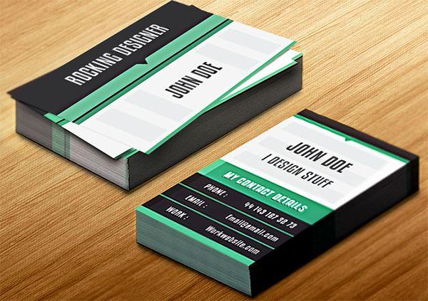 Create a Clean Vertical Business Card in InDesign | by Anum K ~ Creative Inspira