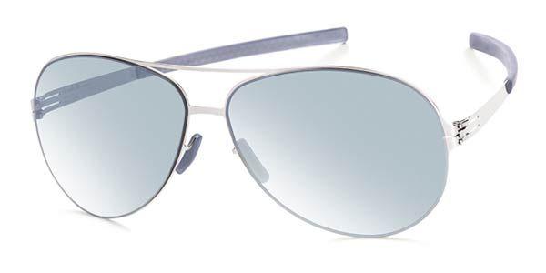 Ic! Berlin M0132 Raf S. Chrome - Teal Mirror Sunglasses