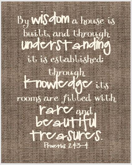 Proverbs 24:3-4 Burlap Digital Print by TRH5HarveyDesigns on Etsy