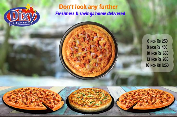 #Pizza #Lovers, We Have The Best Pizza in #Lahore Order pizza online for fast pizza delivery or drop by at Dixy Chicken for carryout. 893-D Faisal Town, Near Akbar Chowk, Lahore, Pakistan. For Free Home Delivery Call Now: 0304-1113499 #Food,#friedChicken,#Burgers,#Spicy,#PeriPeriChicken,#HotDeals,#GrilledChicken,#Chicken,#CheesePizza