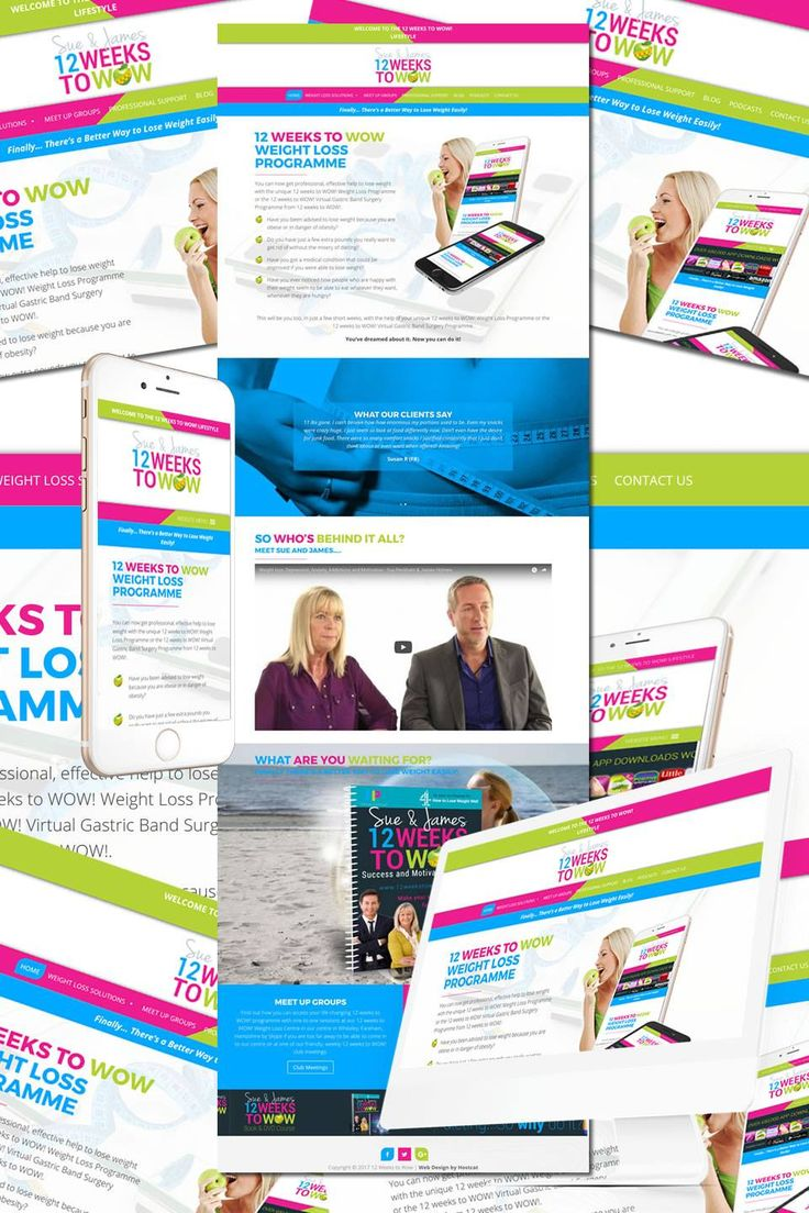 New Website underway for 12 Weeks to Wow - weight loss through hypnotherapy https://hostcat.co.uk/project/easy-loss-weight-loss/