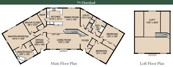 """My dream home floorplan...  i've been saving a copy of this for 4 years...  Almost exact floorplan for the log cabin in """"The Christmas Card"""" Hallmark movie...    full_overlook.gif 1,500×581 pixels"""