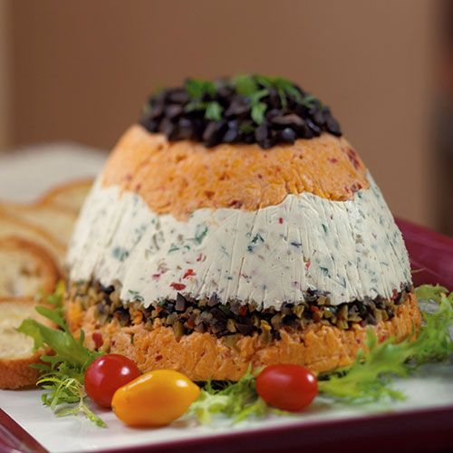 The distinct flavors and layers of this torta create a flavorful and colorful spread.