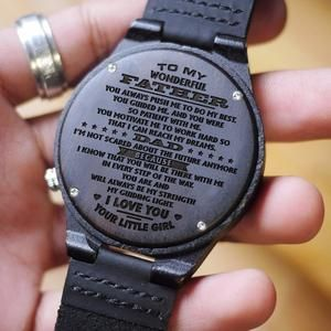 W1582 – I want to hear your voice – For You And For Dad In Heaven Engraved Wooden Watch ,  somm sinha