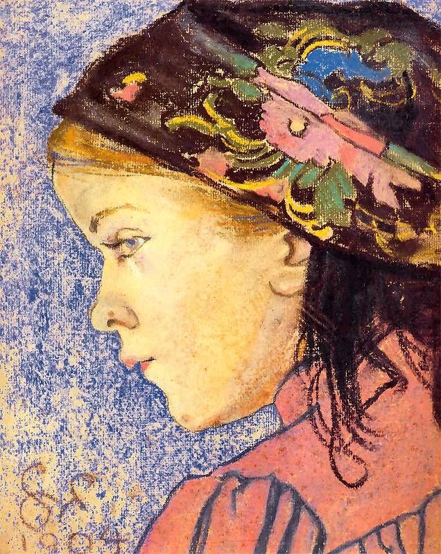 Portret dziewczynki. Pastel z 1904 roku.