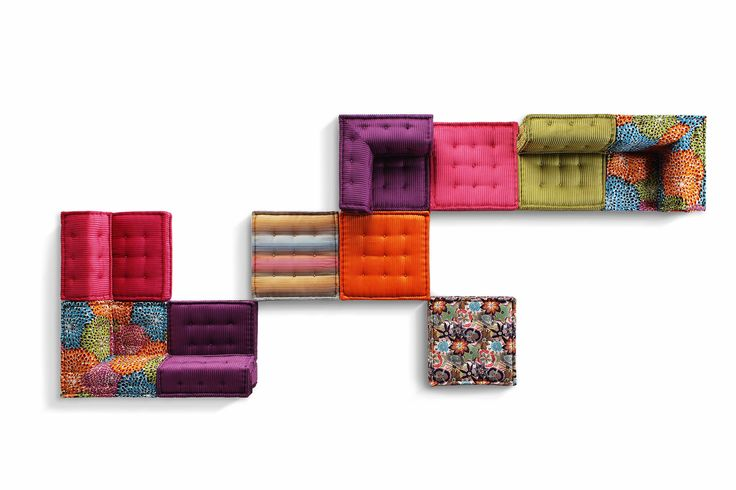 Roche Bobois - MAH JONG modular sofa upholstered in Missoni Home fabrics #mahjong #sofa #missonihome #rochebobois https://www.youtube.com/watch?v=2iE5FEuYS_A