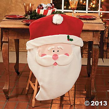 christmas chair covers | Santa Chair Covers - Terry's Village Holiday Decor
