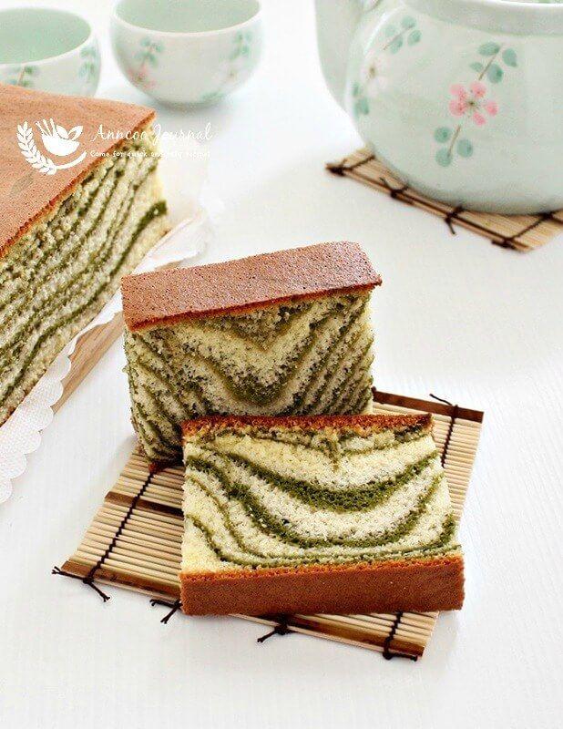 Matcha Marble Castella Cake Recipe in 2020 Matcha
