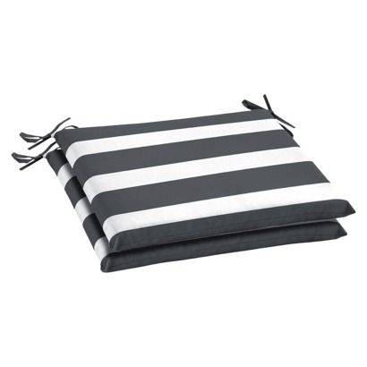target outdoor chair cushions gray and white stripe