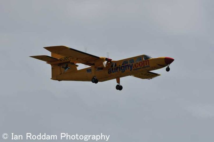 G-JOEY - known as Joey - a Britten Norman Trislander operated by the states airline Aurigny.