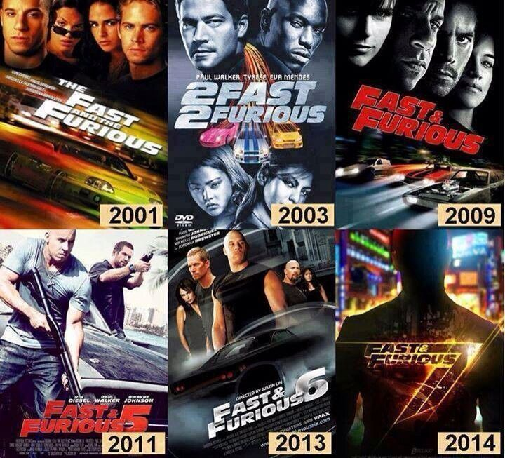 All of The Fast and Furious movies that Paul Walker was a part of. He was the…