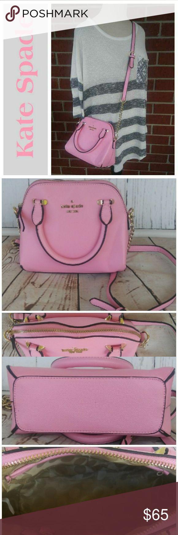 KATE SPADE mini pink bag Pink Mini bag Crossbody strap Handles Zipper top Received as gift never used kate spade Bags