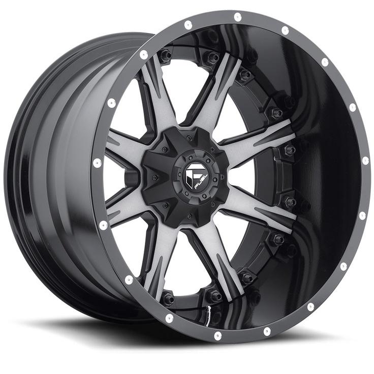 D252 - Nutz Black & Machined, Dark Tint Clear - Fuel Off-Road Wheels