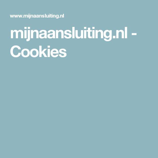 mijnaansluiting.nl - Cookies