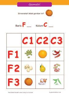 belajar koordinat & tata letak geometri, matematika untuk anak kelas 1 SD