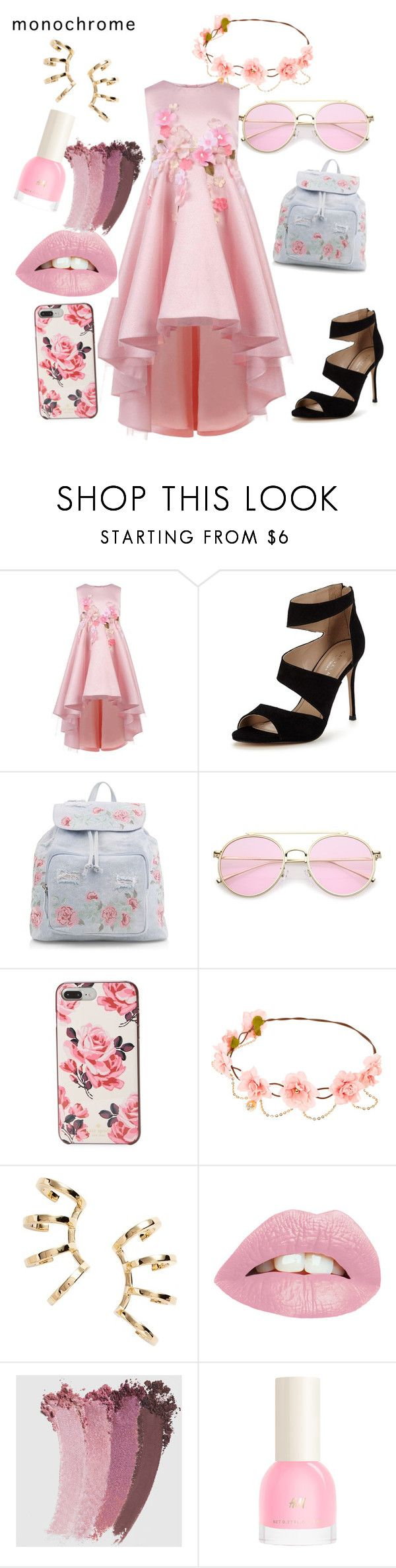 """Pretty in Pink"" by drewlikesbands ❤ liked on Polyvore featuring Monsoon, Carvela, New Look, Kate Spade, Nadri and Gucci"