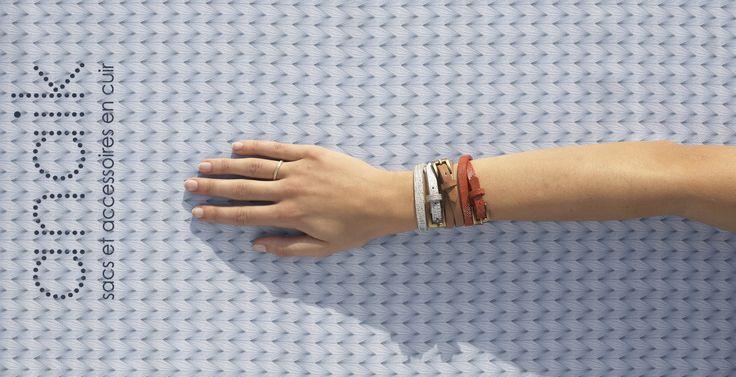 Paris Barbizon bracelet dans les cuirs de la saison #bijoux #cuir