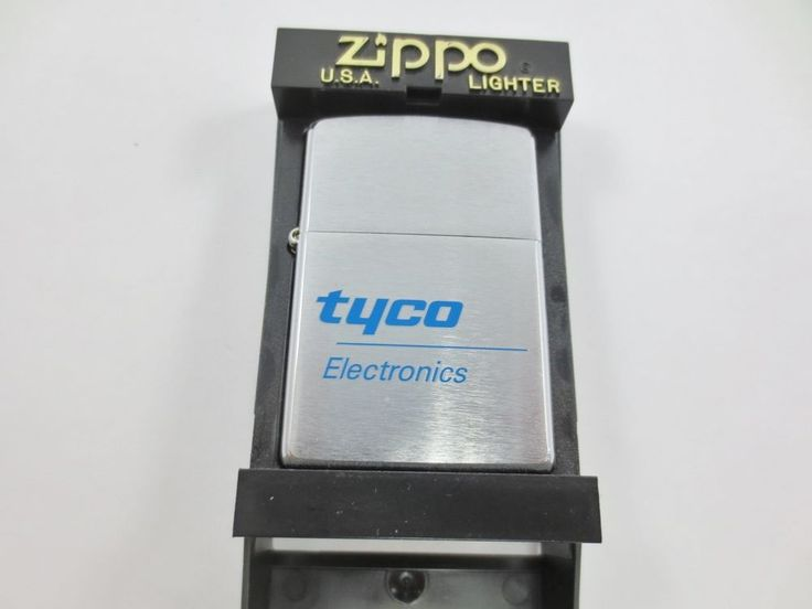 ZIPPO USA Cigarette Lighter New Old Stock w Case TYCO ELECTRONICS #C 02