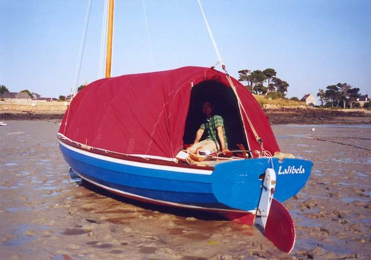 Big Red Tent On A Vivier Designed Stir Ven Boat Small