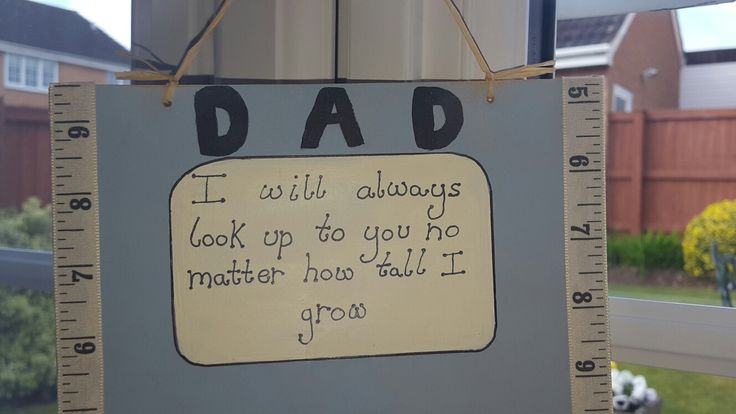Handmade hanging sign for my dad