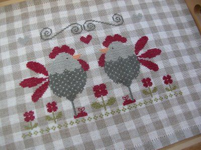 Tralala cross stitch chickens