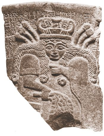 Sumerian panel of Inanna