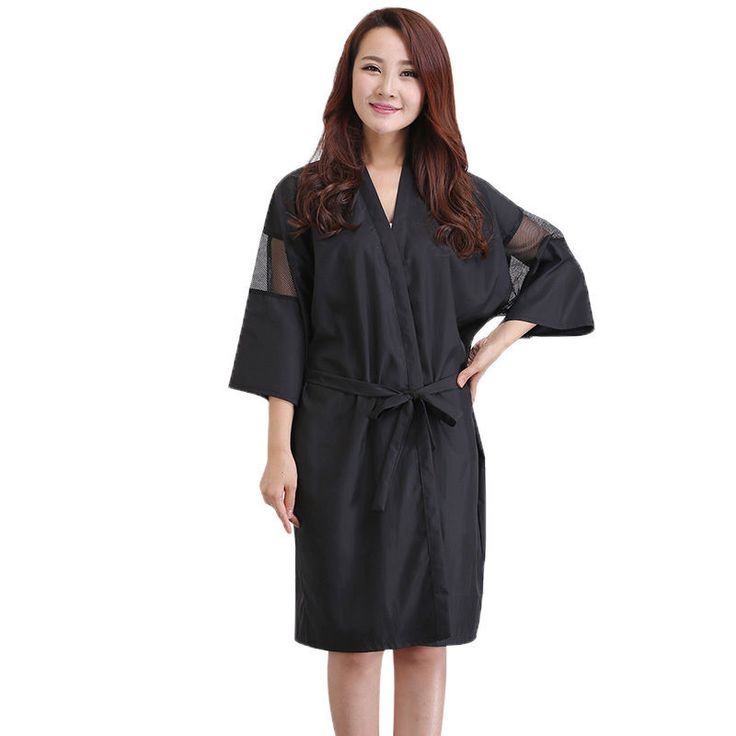 Latest Women Dress Indoor Spa Loose Robe Comfy Kimono Style Hairdressing Clothes