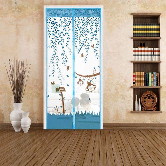 90*210 см Прочный милый mokey Кухонное Окно Шторы тюль окна двери экрана 4 Цветов Летний Стиль Сетки Предотвратить комаров