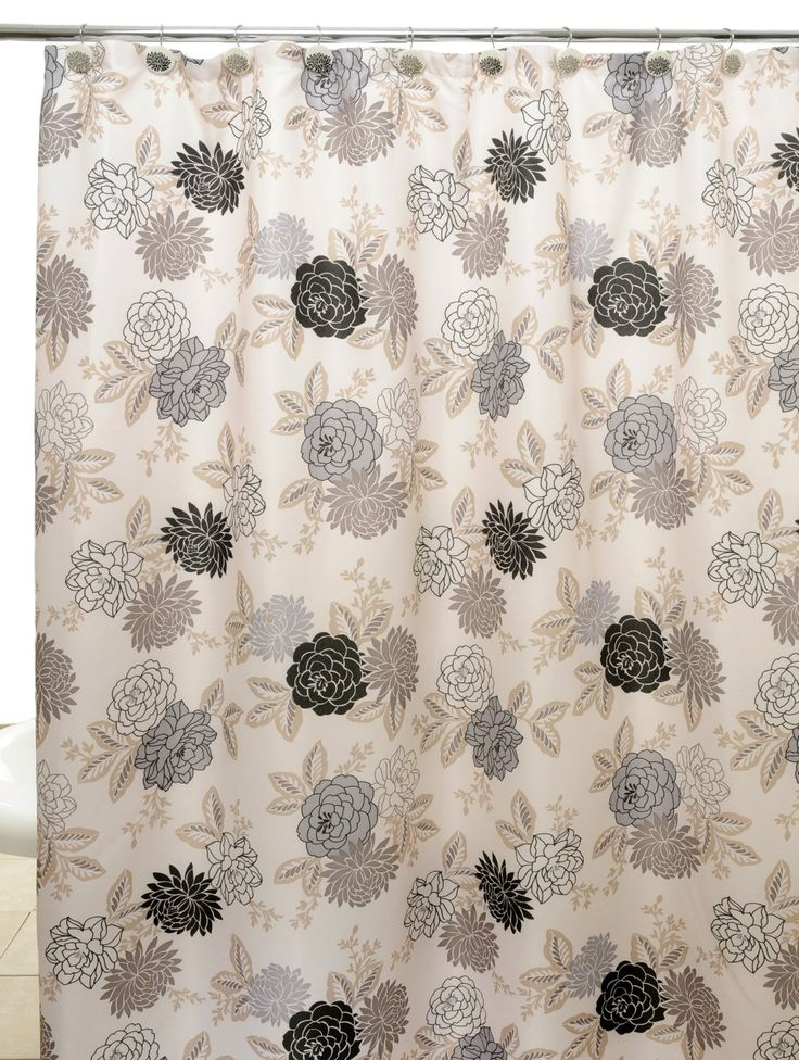 Amazing Grey And Brown Shower Curtain Part - 10: Dark Blue Tan And ...