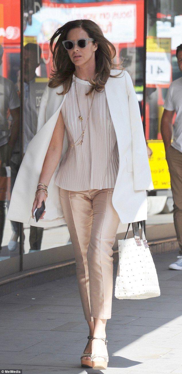 Fashion guru: Trinny Woodall is seen enjoying a solo shopping trip in fashionable Chelsea...