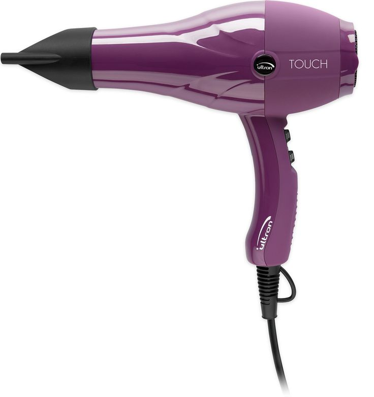 Ultron TOUCH - Proline. Purple hairdryer for day-to-day use in a salon. Modern look. Nylon casing has a high level of shock-resistance.