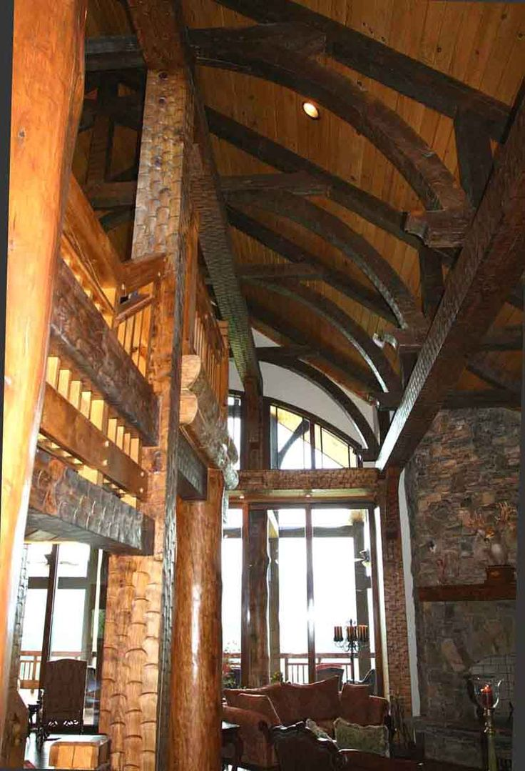 64 best vaulted ceiling images on pinterest vaulted - Vaulted ceiling designs for homes ...