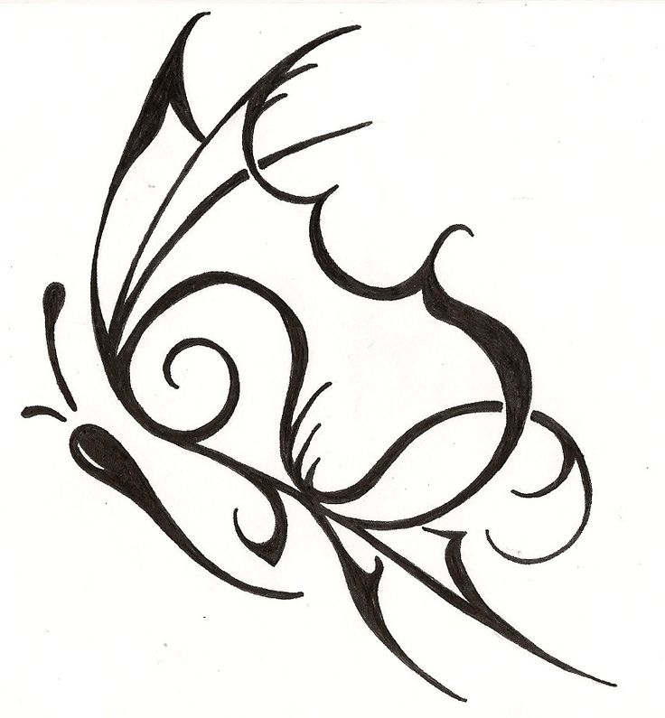 Tribal butterfly design - photo#23