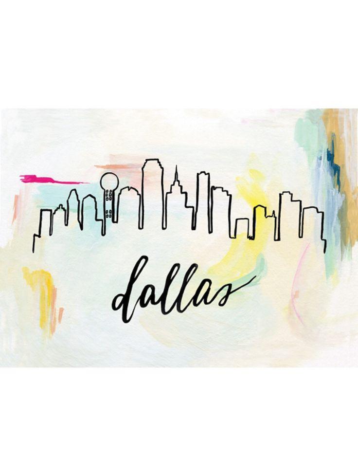 Sunrise Skyline Print, Dallas - change to SF