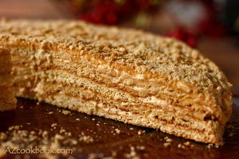 AZ Cookbook - Food From Azerbaijan & Beyond » Honey Cake (Medovik) - Step by Step