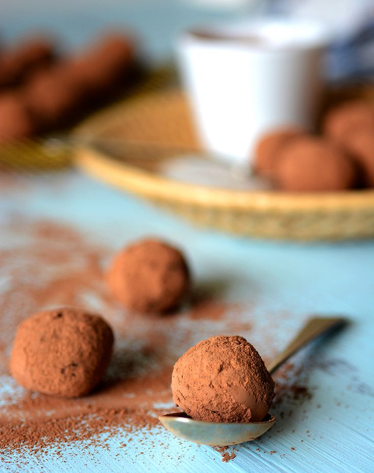 Chocolate orange truffles using avocado, coconut and macadamias