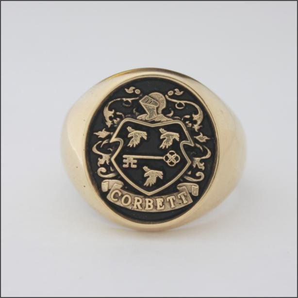 Corbett Family Crest ring