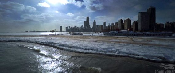 Winter Has Rarely Looked More Beautiful Than In This Drone Video Of Frozen Chicago