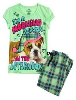 PLAID PUPPY CAPRI PAJAMA SET | GIRLS PAJAMAS CLOTHES | SHOP JUSTICE