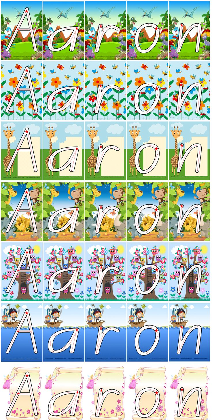 Teaching your child to write their name is an easy process if you know how. Choose the design, or designs, you know your little one would enjoy and simply purchase the capital letter and lower case letters you need for your child's first name. Each card is laminated and each letter has a starting star and directional arrows.