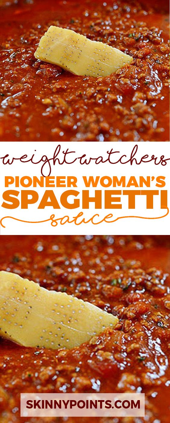 Spaghetti Sauce - Weight Watchers FreeStyle Smart Points Friendly